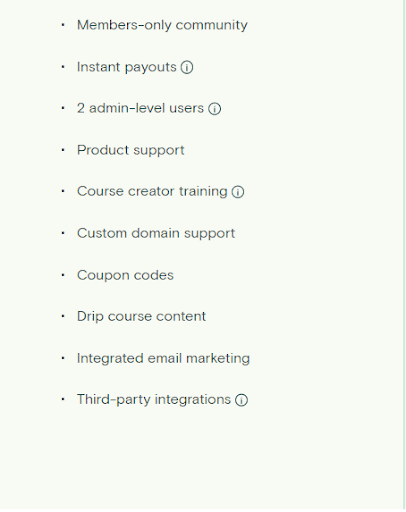TEachable pricing plans for basic
