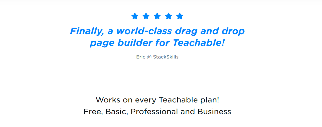 Teachable Page Builder
