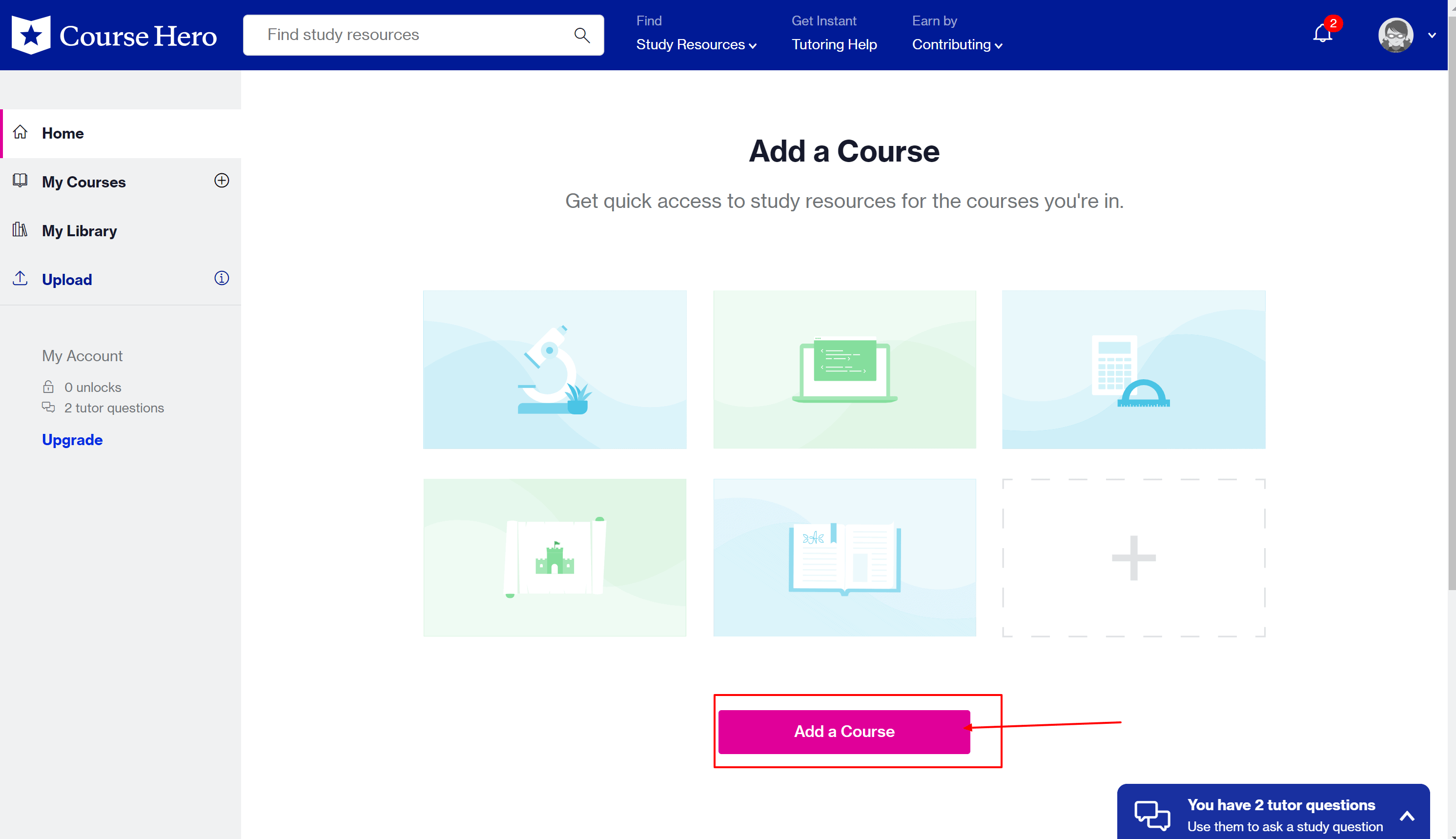 Course-Hero-dashboard-and-discounts