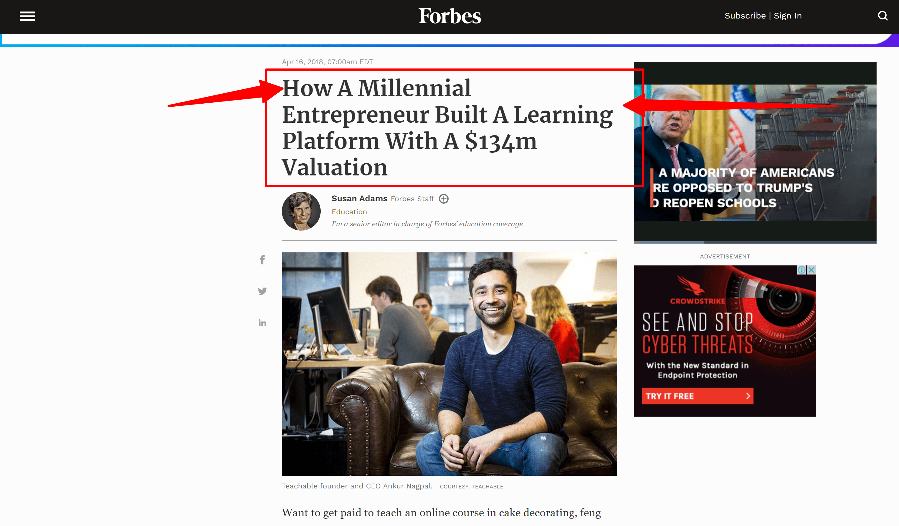 Teachable course review- teachable forbes
