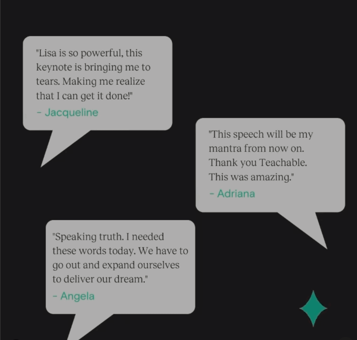 Teachable reviews and testimonials